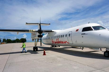 Propellor plane to Gan Island, Maldives