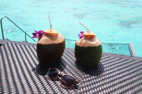Fresh coconut water, Maldives Shangri-La