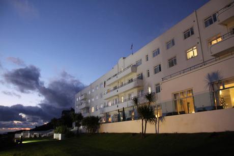 Saunton Sands Hotel at dusk