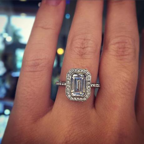 Carat Diamond Ring On Finger