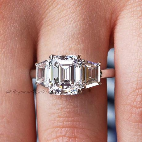 Platinum 3.02ct Emerald Cut GIA Certified Diamond Engagement Ring