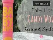 Maybelline Baby Lips Candy Wow- Peach Review, Swatches Price