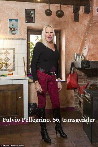 Fulvio Pellegrino, 56, transgender