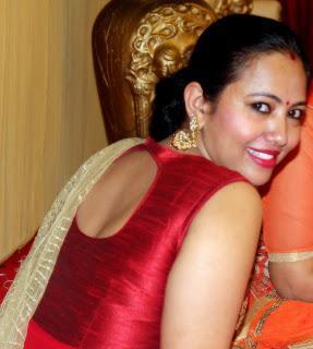 Westside Indo-Western Red Dress With Golden Dupatta From Lajpat Nagar