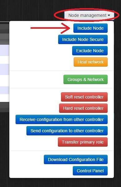 Domoticz - Razberry - Include node
