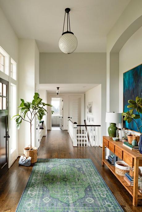 Entryway - white, hardwood floors, open, unique, charming ~ by designer CourtneyNye ~ via desire to inspire: