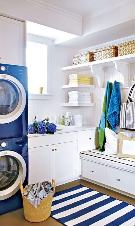 This laundry room is gorgeous.: