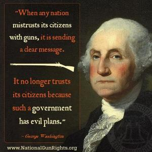 George Washington on guns