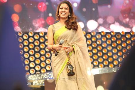 d611a229711a96 Nayanthara wearing Beige color kotta silk saree paired with raw silk