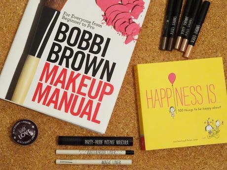 Bobbi Brown Make up Manual, Topshop Smoke Stick, topshop mascara, topshop liner, 500 things to be happy about