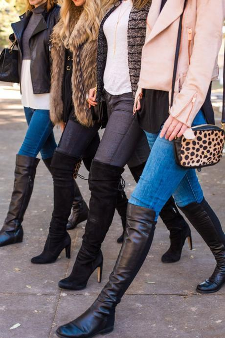 how to wear over the knee boots at any age with skinny jeans
