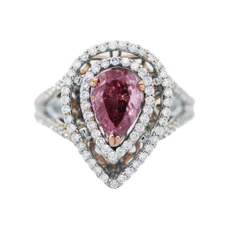 18k Gold 1ct Pink Diamond GLS Cert. Engagement Ring