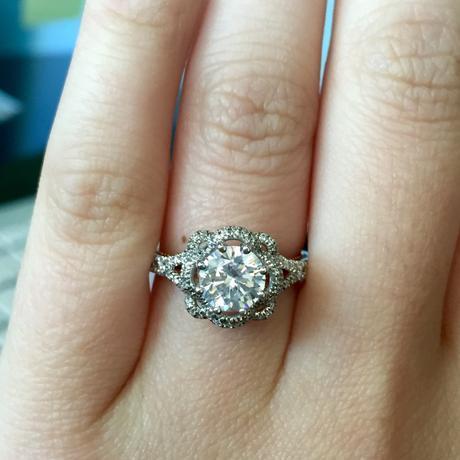 Verragio Couture rose engagement ring