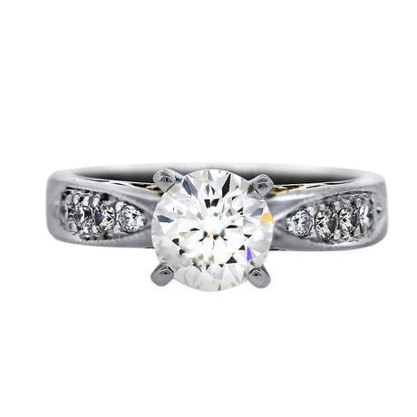 18k Two Tone 1 Carat Diamond Engagement Ring