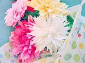 Crepe Paper Dahlia Handcrafted Cards!