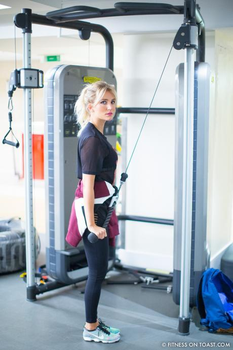Fitness On Toast Faya Blog Girl Healthy Health Workout Arm Exercise Forever 21 Virgin Active Gym Training Fashion-9