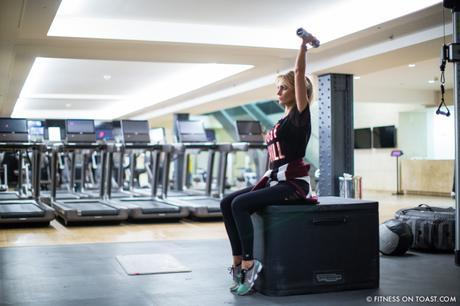 Fitness On Toast Faya Blog Girl Healthy Health Workout Arm Exercise Forever 21 Virgin Active Gym Training Fashion-3