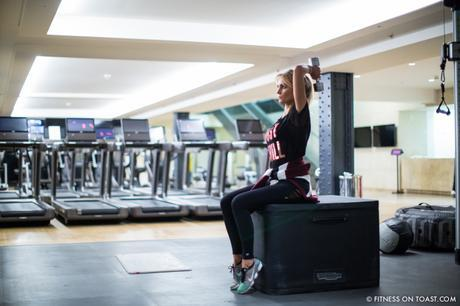 Fitness On Toast Faya Blog Girl Healthy Health Workout Arm Exercise Forever 21 Virgin Active Gym Training Fashion-4