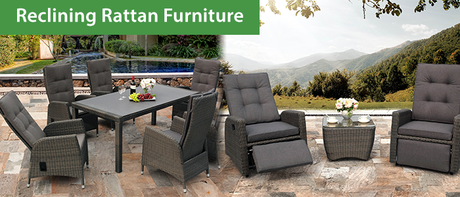 Reclining Rattan Garden Furniture