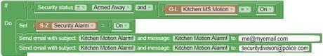 Domoticz - Kitchen alarm event
