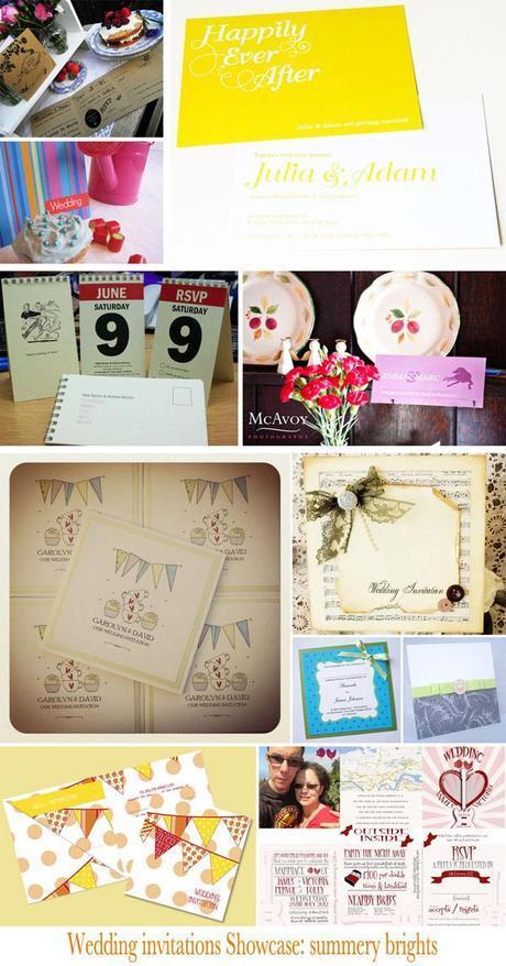 bright summer wedding invitation ideas