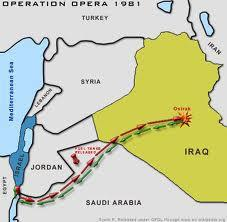 Israel's attack on Iraq's nuclear reactor, Osirak 1981.  A model for Iran 2012?