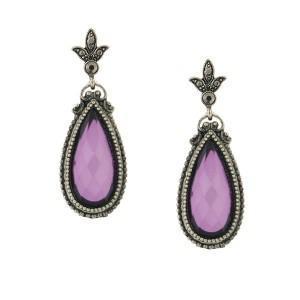 purple teardrop earrings