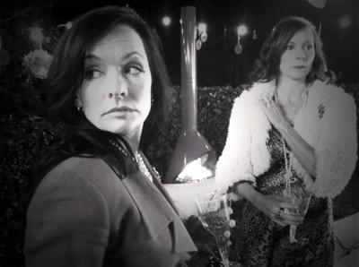 Carrie Preston and Janina Gavankar in 'Who's Afraid of Vagina Wolf?'
