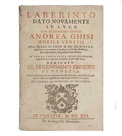 The Map Of Andrea Ghisi's Laberinto