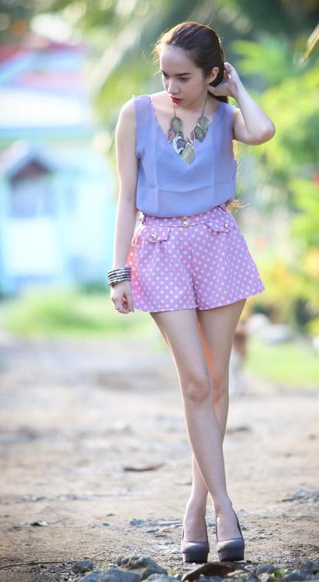 Look 311: Playing with Pastels and Dots