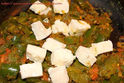 Bell Pepper with Tomato and Cottage Cheese ( Paneer)