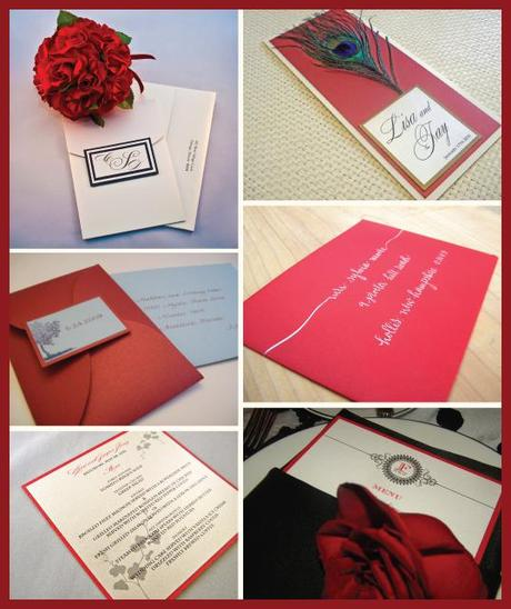 Valentine's Day Inspiration: Red Wedding Stationery