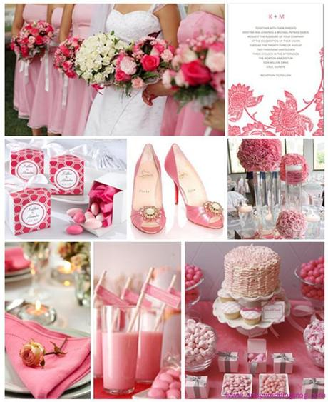 You have plenty of ideas to choose for your hot pink wedding decorations