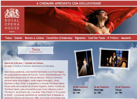 Tosca screenings in Brazil, February 25, 26 and 28