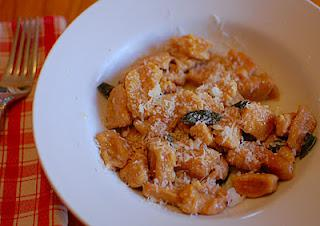 Sweet Potato Gnocchi with Sage and Pecans
