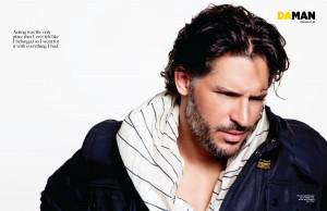 True Blood's Joe Manganiello posing for DA MAN magazine