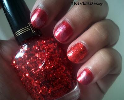 Valentine's Day Mani feat. Milani Jewel FX in Red