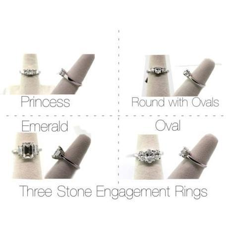Three STone Engagement Rings - Wedding Wednesday