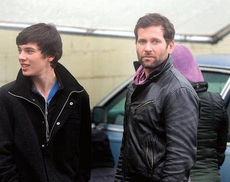 "Eion Bailey (right) guest stars on the episode being filmed as ""The Stranger""."