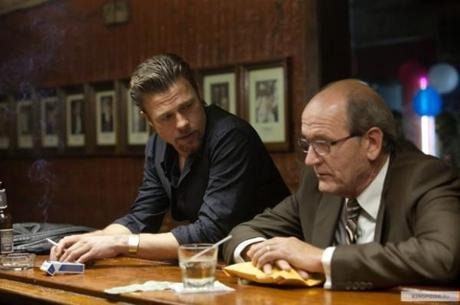 New Photos of Brad Pitt and Ray Liotta in Cogan's Trade