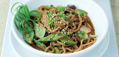 Recipe: Sesame Lime Soba Noodles with Snow Peas and Shiitake Mushrooms