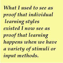 Looking Back: I still don't believe in learning styles…