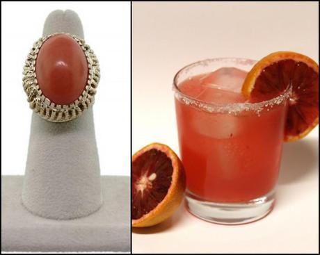 blood orange, cocktail, margarita, coral, cocktail ring, raymond lee ejwelers, boca raton, south florida