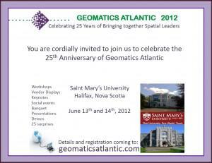 "Geomatics Atlantic 2012 – ""Looking Back and Moving Forward"""