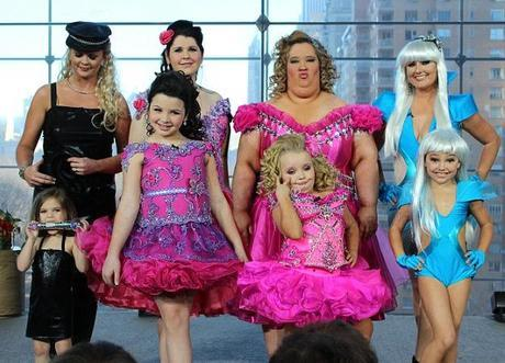 Toddlers & Tiaras: Honey Boo-Boo Child Gets Super-Sized. Toddler Moms Get The Pageant Treatment And Prove That Too Much Is Never Enough.