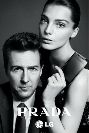 A Celebrity Moment: Edward Norton for the Prada x LG phone!