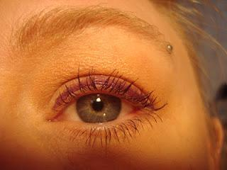 Purple eye look of the day