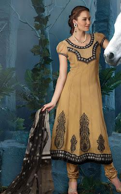 Anarkali Bridal Salwar Kameez With Intricate Embroidery & Matching Dupatta