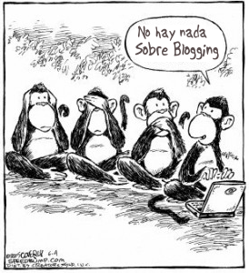 English: Monkeys Blogging Español: Simios blog...