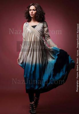 NazJunaid Pakistani & Indian Anarkali Pishwas Party Dresses